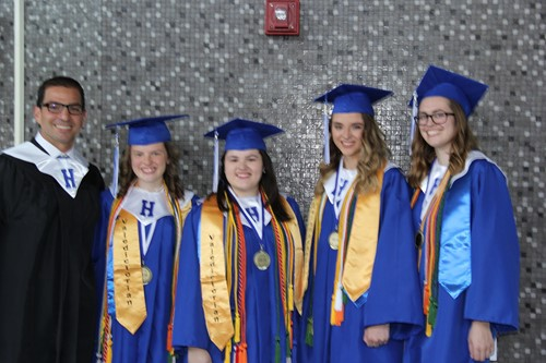 District graduates with Principal