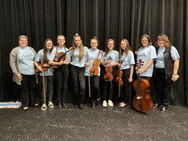 HCSD Students in OMEA District 13 Honor Orchestra